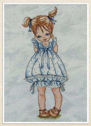 Blue-eyed Girl cross stitch chart by Artmishka Cross Stitch
